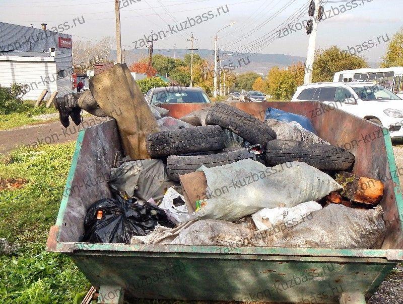 Кузбассовцев шокировали человеческие ноги, торчащие из мусорного контейнера (фото)