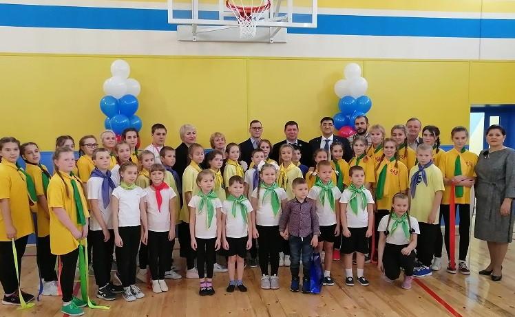 В школе Прокопьевска после ремонта торжественно открыт спортзал