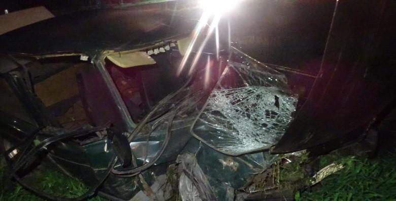 Кузбассовец угнал машину и попал в жесткое ДТП