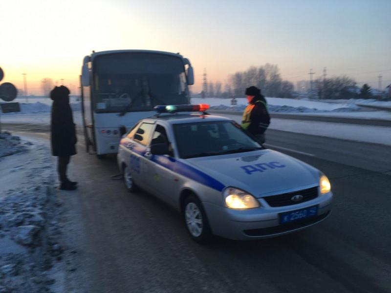 На трассе «Ленинск-Кузнецкий – Прокопьевск – Новокузнецк» сломался междугородний автобус