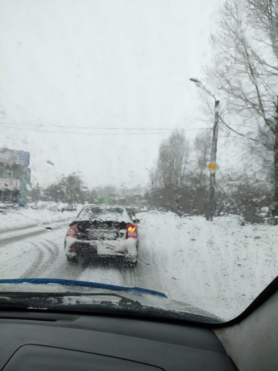 Внимание водителей! В Прокопьевске большая автомобильная пробка