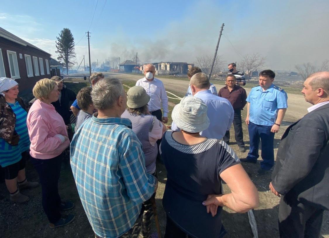 В селах Кузбасса пожар уничтожил более 20 жилых домов