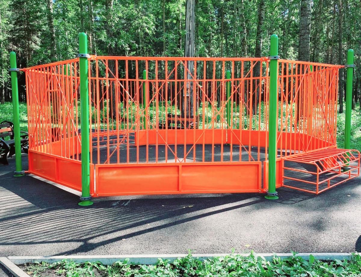 В Прокопьевске появилась первая площадка для игры в панна-футбол
