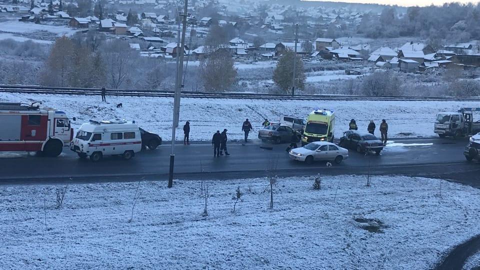 В Прокопьевске произошло ДТП с 4 пострадавшими