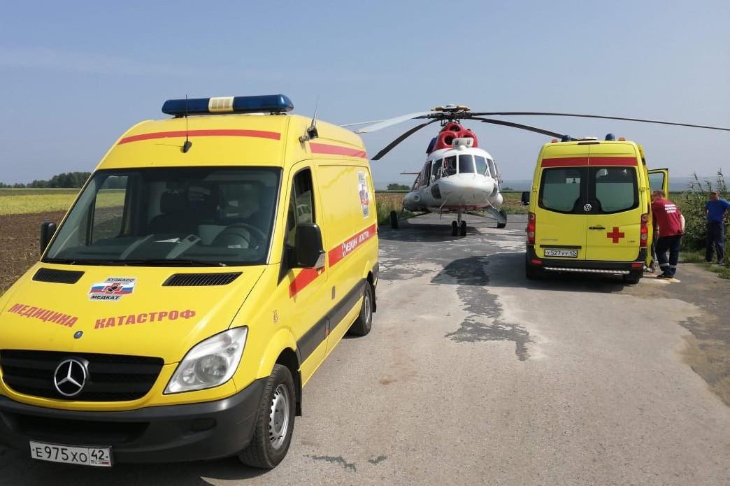В Кузбассе открыта первая вертолетная площадка для санавиации
