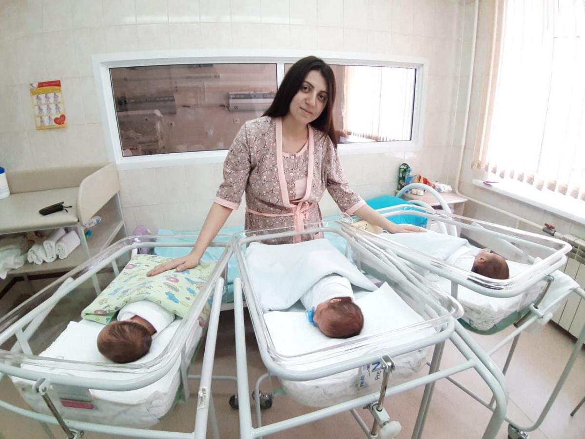 В Кузбассе родилась первая в этом году тройня