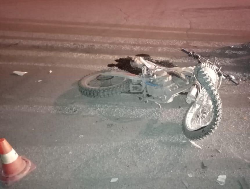 В Прокопьевске в ДТП пострадал несовершеннолетний мотоциклист
