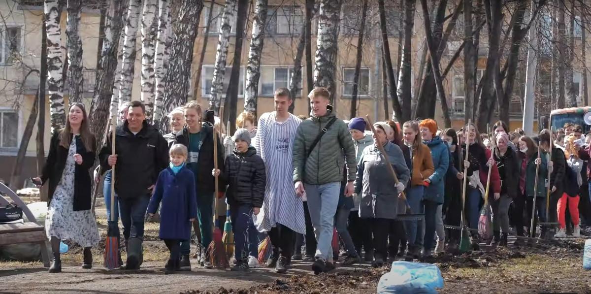 Мэр Новокузнецка вновь подошел творчески к приглашению горожан на субботник