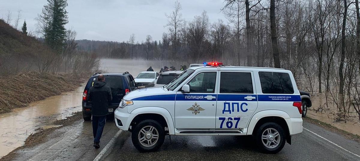 Из-за подтоплений перекрыто движение по участку федеральной трассы Горно-Алтайск – Артыбаш