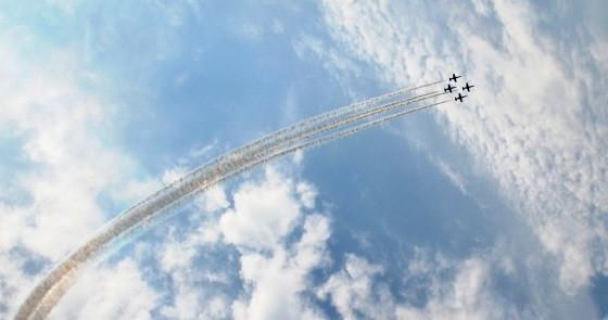 Прокопчане смогут полюбоваться авиашоу с фигурами высшего пилотажа