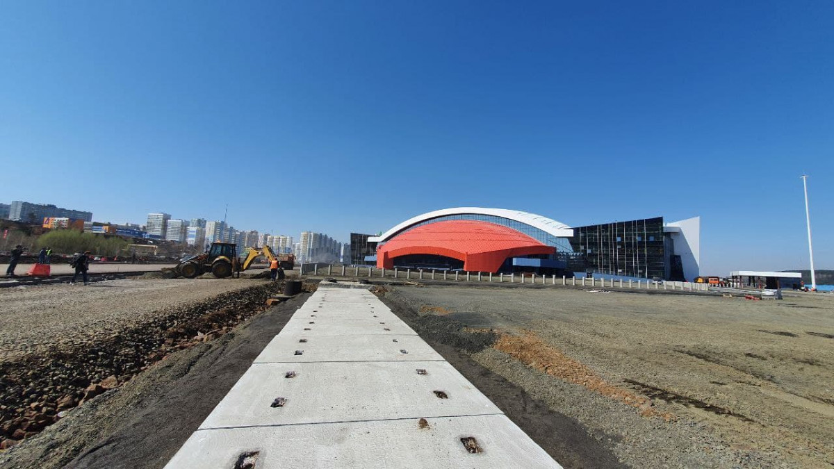 В Кузбассе завершается строительство главной площадки празднования 300-летия региона