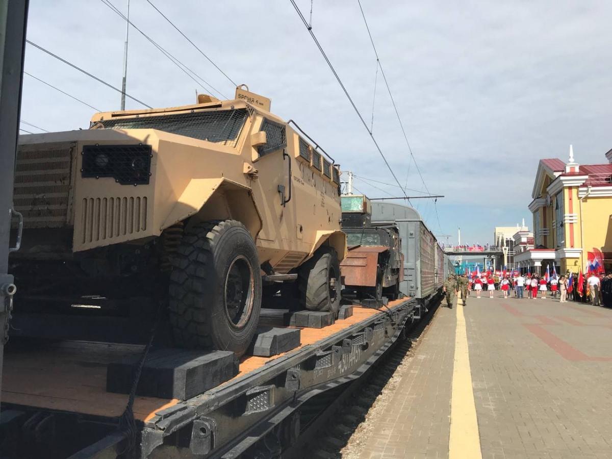В Новокузнецке побывал Поезд Победы