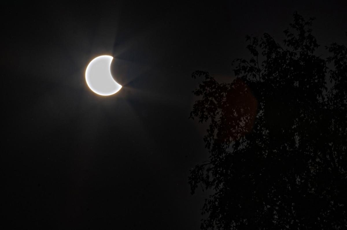Каким было солнечное затмение в Прокопьевске: фото