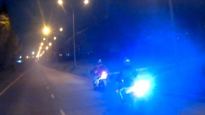 В Кузбассе нетрезвый байкер гонял по районам города