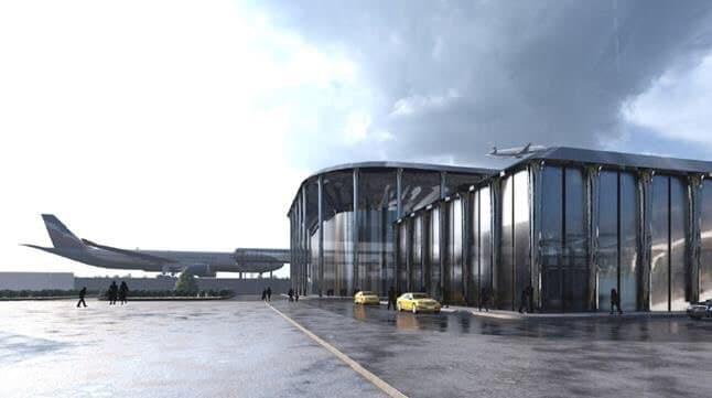 Опубликован эскизный проект нового терминала Новокузнецкого аэропорта