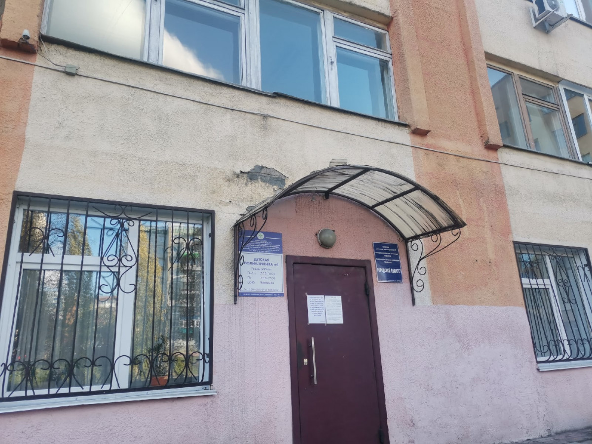В Прокопьевске детская поликлиника №1 временно переехала