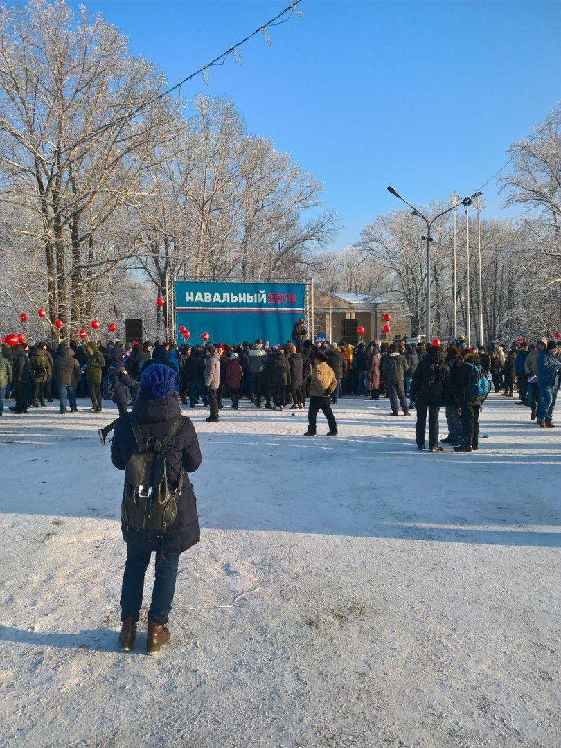 В Новокузнецке побывал Навальный