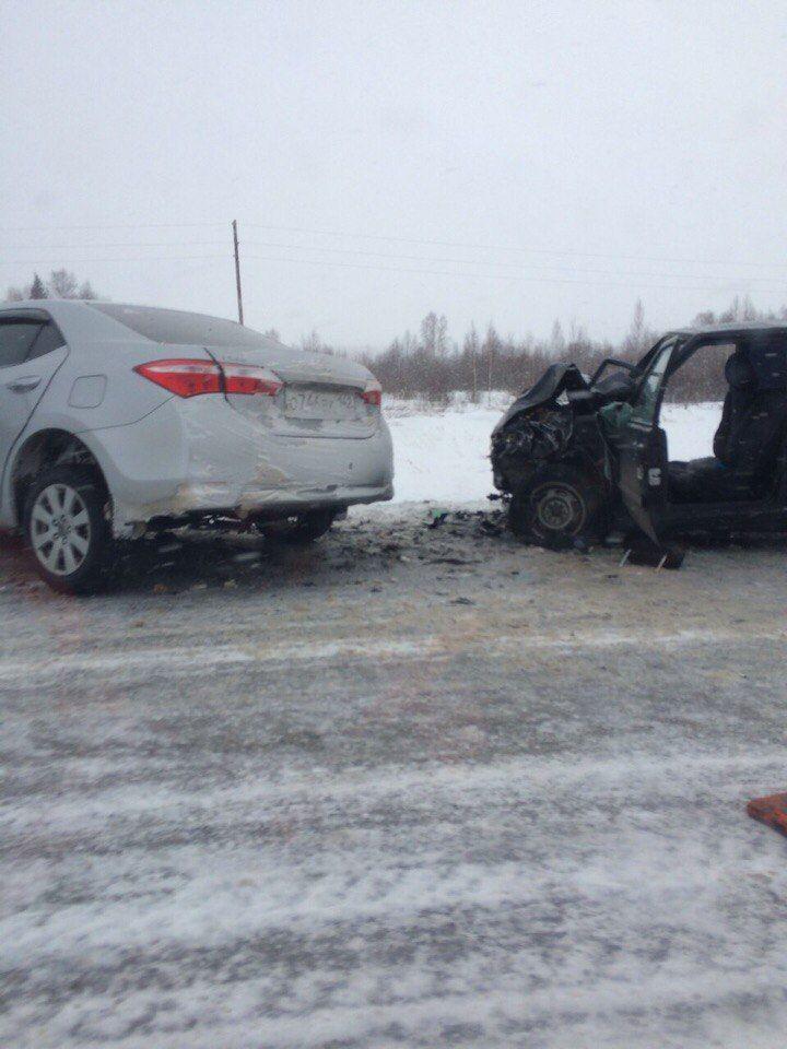 В Кузбассе в ДТП на трассе погибли 3 человека, 1 госпитализирован