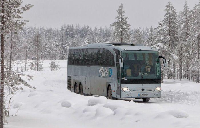На трассе Кузбасса заглох междугородний автобус