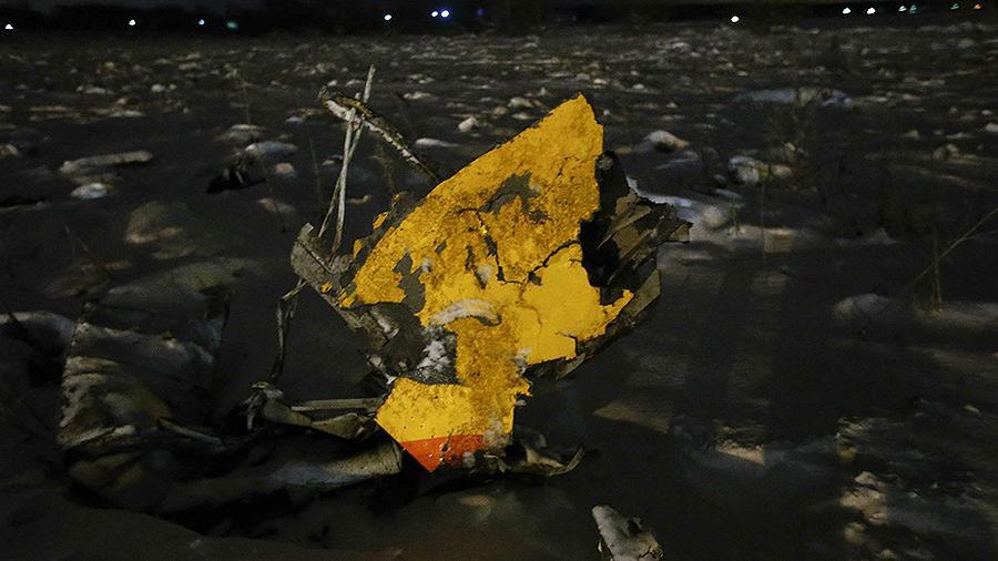 Момент крушения Ан-148 в Подмосковье попал на видео