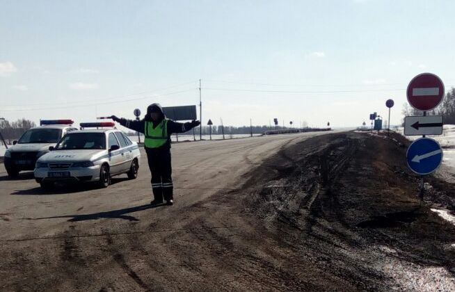 В Прокопьевском районе возобновлено движение транспорта по участку трассы, ранее затопленном водой