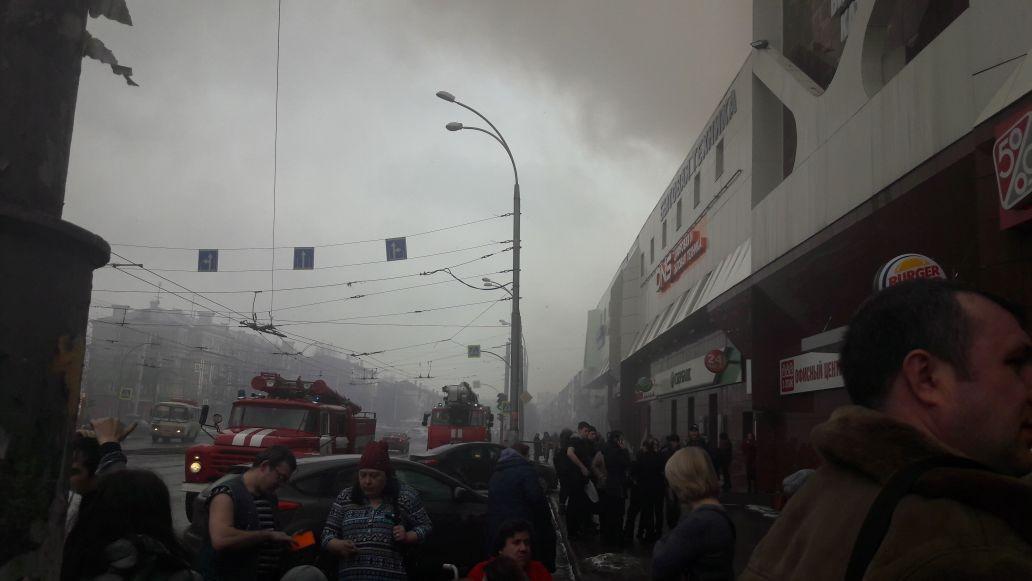 14 человек пострадали напожаре в коммерческом центре вКемерове