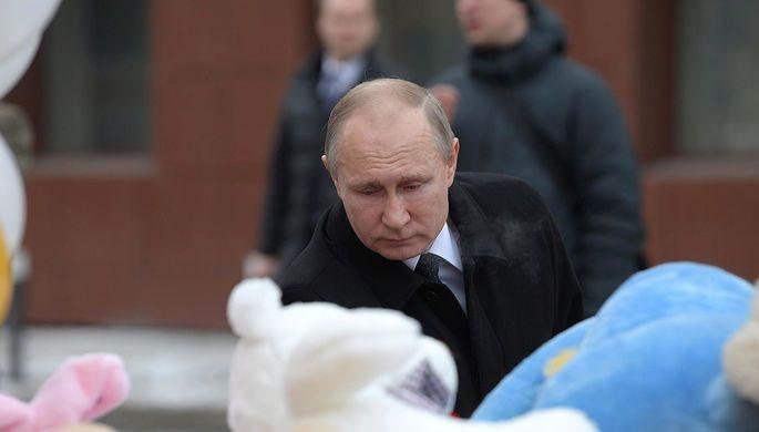 Стало известно, почему Владимир Путин не вышел к митингующим в Кемерове