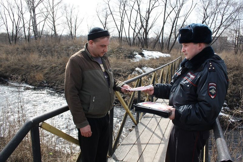В Прокопьевске полицейские предупреждают горожан, как не пострадать во время паводка