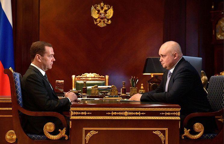 Сергей Цивилев обсудил с Медведевым перспективы развития Кузбасса