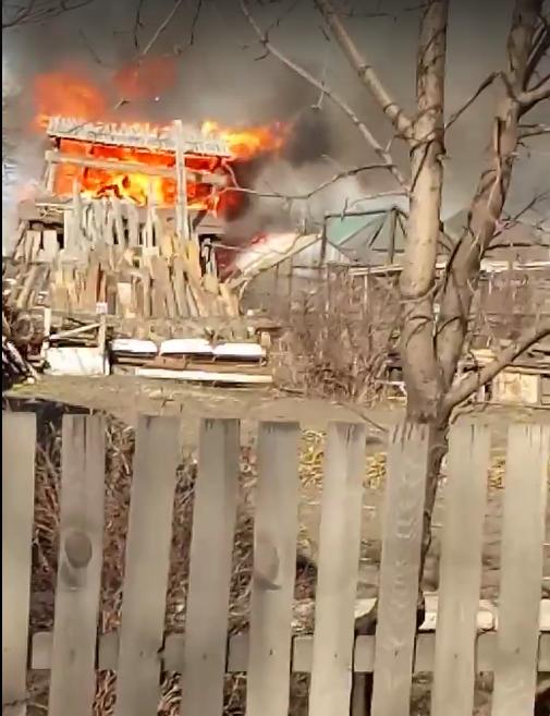 На Ясной Поляне произошел серьезный пожар