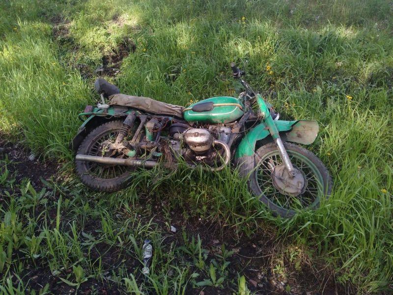 На трассе Кузбасса погиб мотоциклист