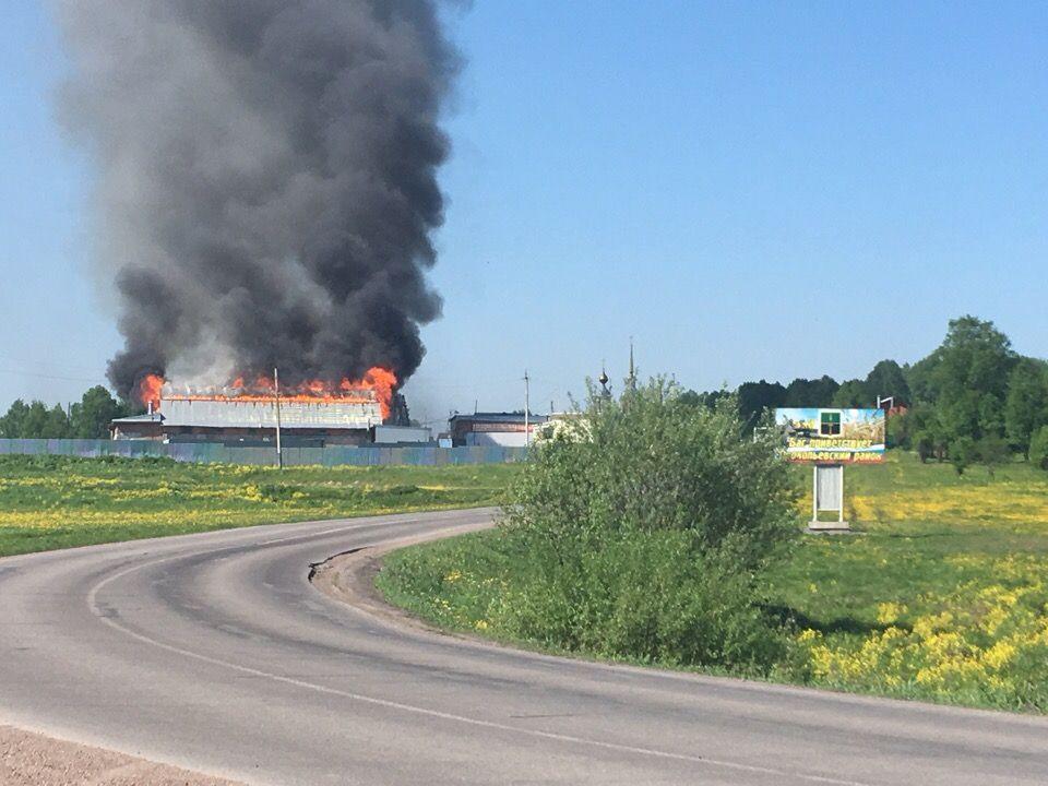 В Новосафоново произошел серьезный пожар