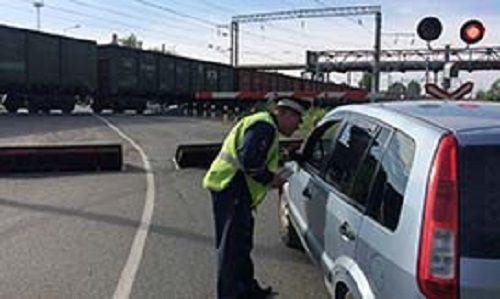 В Прокопьевске 28 водителей привлечены к ответственности за нарушение правил пересечения ж/д переездов