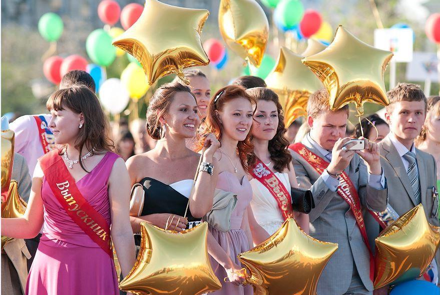 Сегодня в школах Прокопьевска пройдут выпускные вечера