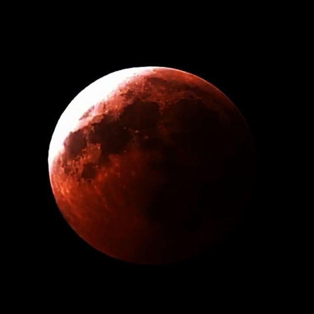 Кровавая Луна и великое противостояние Марса: как это было