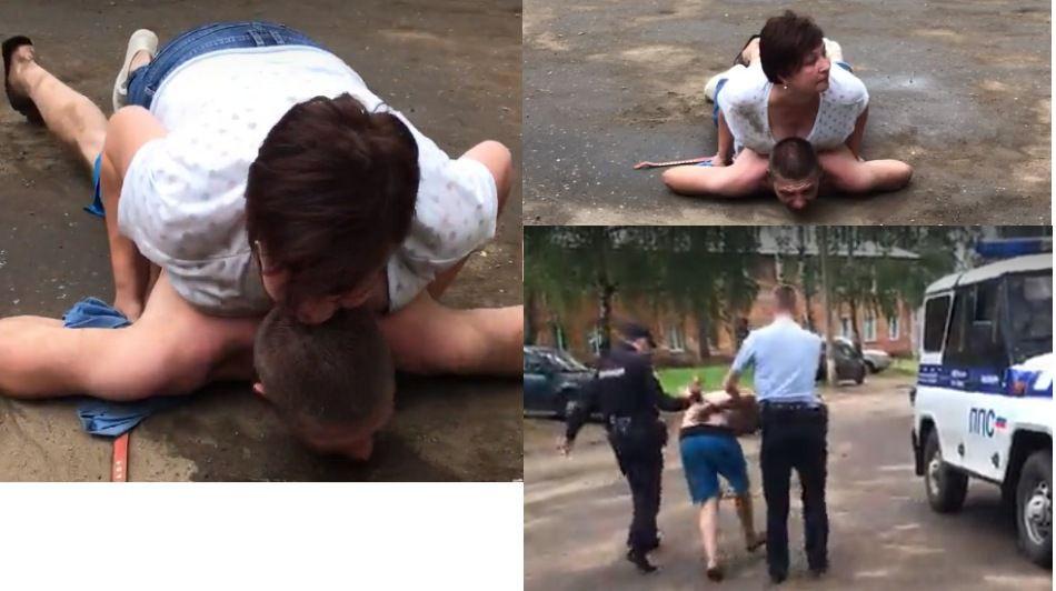 Женщина навалилась на грабителя грудью и удерживала до приезда полиции