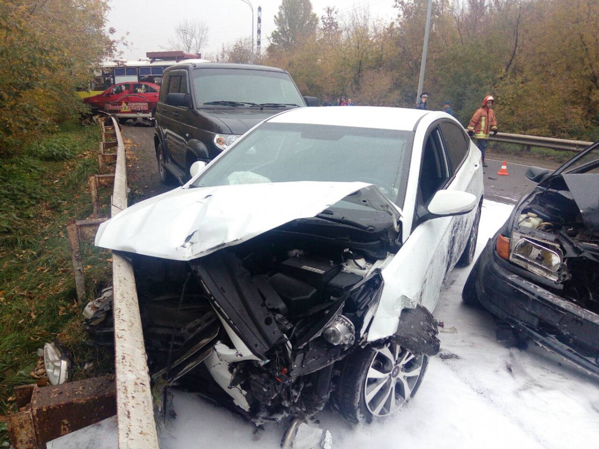 Крупное ДТП с 4 автомобилями в Новокузнецке попало на видео