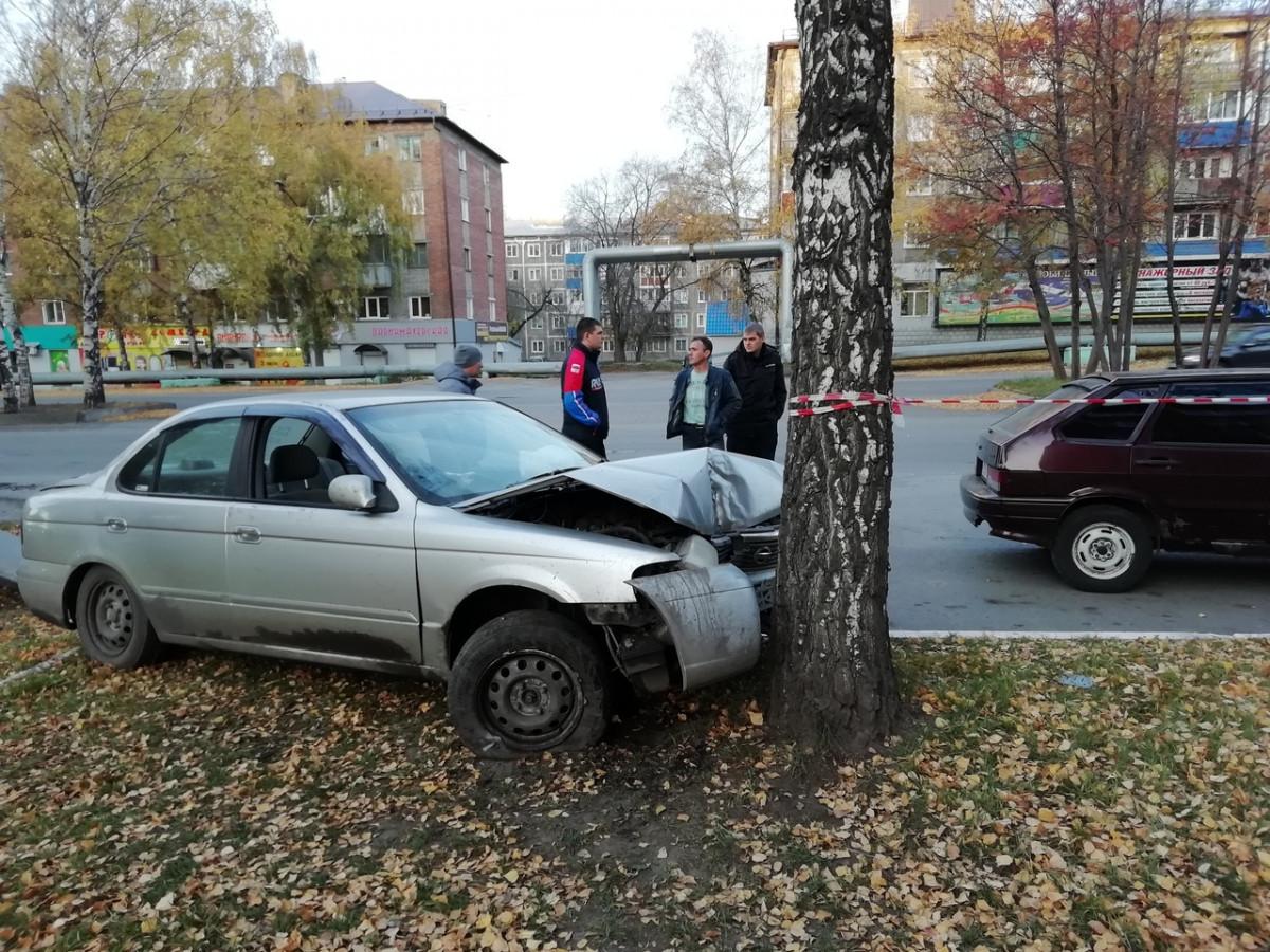 В Прокопьевске автолюбитель жестко врезался в дерево (фото)