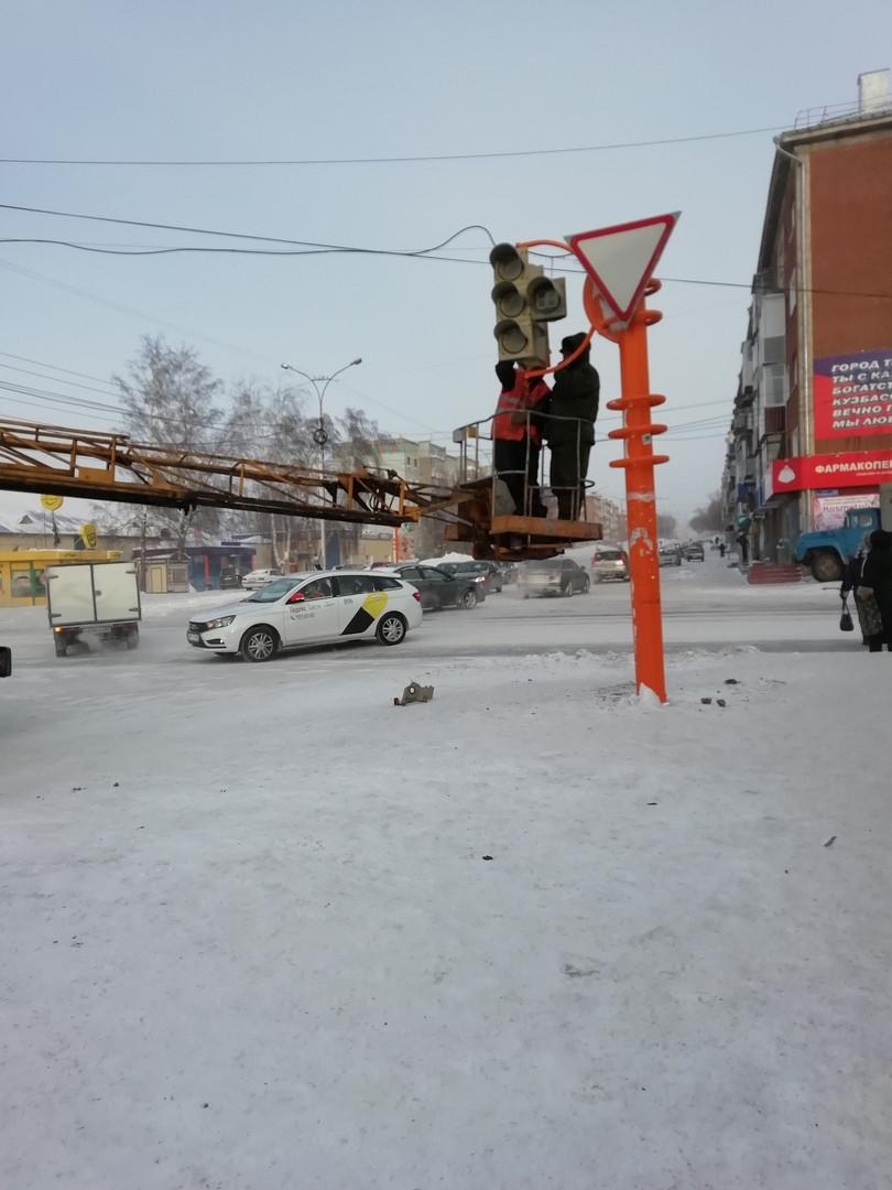 В Прокопьевске установили новый светофор