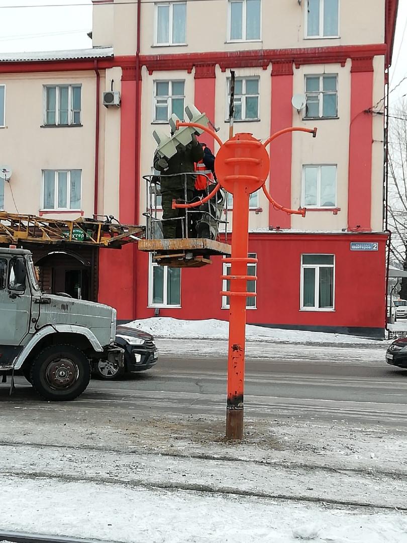 В Прокопьевске установили обновленный светофор
