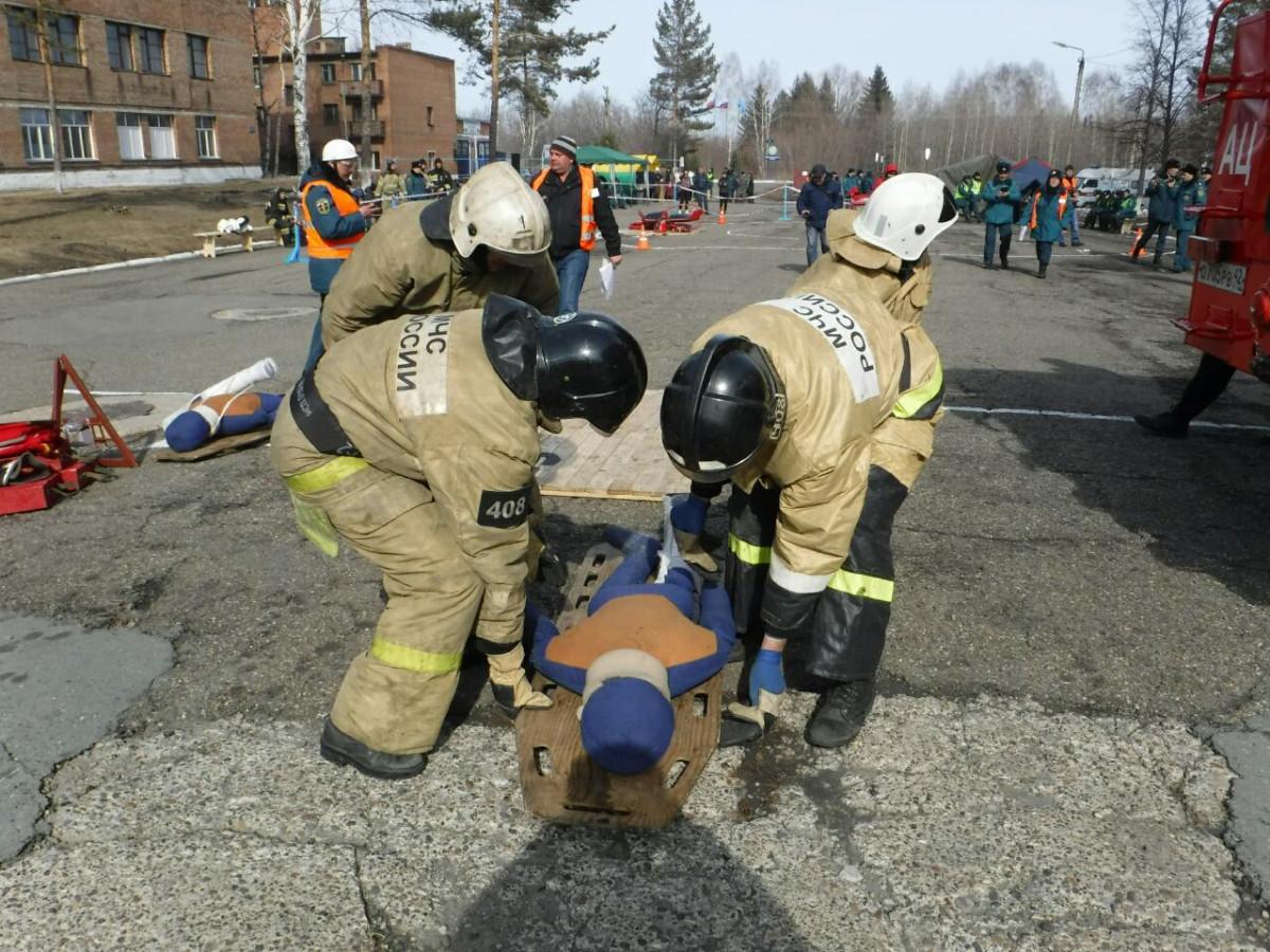 Пожарные Прокопьевска лучшие в Кузбассе