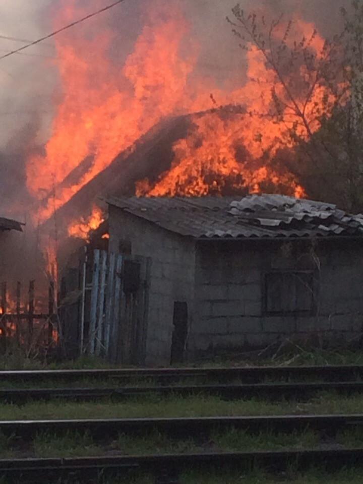 В частном секторе Прокопьевска произошел пожар